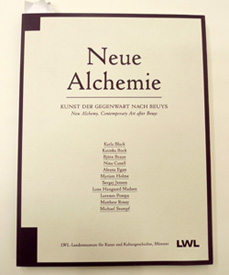 Neue alchemie cataloque cover